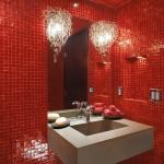 ваннаЯ комната плитка красно чернаЯ