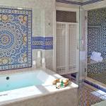 ваннаЯ комната с элементами мозаики