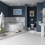 ваннаЯ комната с угловой ванной и туалетом