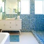 ваннаЯ комната синЯЯ мозаика