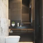 ваннаЯ комната в черно белых тонах