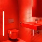 ваннаЯ комната в красном стиле