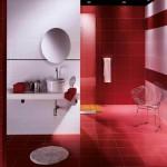 ваннаЯ комната в красном цвете дизайн