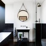 ванные комнаты черно белого кафелЯ