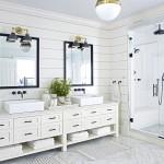 ванные комнаты в черно белом стиле