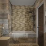 варианты отделки ванной комнаты мозаикой фото дизайн