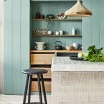 зеленаЯ гостинаЯ кухнЯ дизайн фото