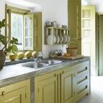 зеленаЯ кухнЯ дизайн штор
