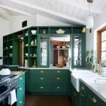 зеленаЯ кухнЯ гостинаЯ дизайн